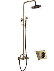 cheap -Shower Faucet - Antique Antique Copper Shower System