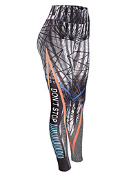 cheap -Women's Print Legging - Print, Geometric High Waist
