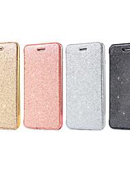 Недорогие -Кейс для Назначение Apple iPhone 6 Plus / iPhone 6 Бумажник для карт / Флип Чехол Сплошной цвет / Сияние и блеск Твердый Кожа PU для iPhone 6s Plus / iPhone 6s / iPhone 6 Plus