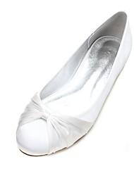 Недорогие -Жен. Обувь Сатин Весна / Лето Удобная обувь / Балетки Свадебная обувь На плоской подошве Круглый носок Цветы из сатина / Ленты