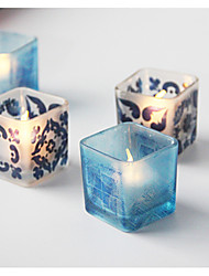 baratos -Estilo Europeu Estilo simples Vidro Suporte de Vela 1pç, Candle / Candle Holder