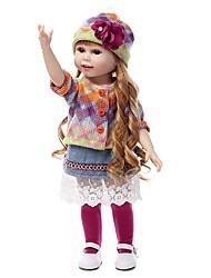 Недорогие -NPKCOLLECTION Куклы реборн Девочки 18 дюймовый Полный силикон для тела Силикон Детские Универсальные / Девочки Игрушки Подарок