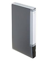 abordables -Bolsa para Color sólido Tejidos 64 Capacity CD DVD Case