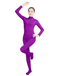 cheap -Zentai Suits Fashion Zentai Cosplay Costumes Turquoise Purple Brown Blue Pink Solid Colored Fashion Zentai Lycra® Men's Women's Halloween