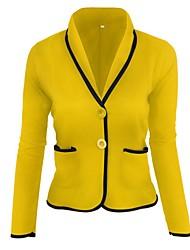 baratos -Mulheres Temática Asiática Conjunto - Sólido Colarinho de Camisa