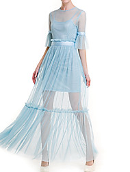 Недорогие -Жен. Оболочка Платье - Однотонный Завышенная Макси