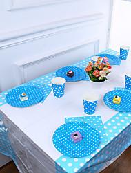 abordables -Fête d'anniversaire Parti Vaisselle - Chemins de table A Motif Plastique Anniversaire