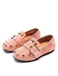 Недорогие -Девочки Обувь Полиуретан Кожа Весна Лето Удобная обувь На плокой подошве Заклепки для Повседневные Для праздника Черный Розовый