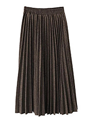 cheap -Women's Going out Cute Pencil Skirts - Solid Colored High Waist