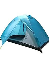 baratos -2 Pessoas Barraca com Tela de Proteção / Cabana de Praia / Gazebo Dupla Camada Poste Dome Barraca de acampamento Ao ar livre Leve, Á Prova-de-Chuva, A Prova de Vento para Alpinismo / Campismo
