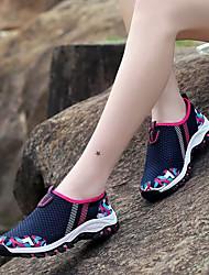 Недорогие -Жен. Обувь Дышащая сетка Лето Удобная обувь Мокасины и Свитер На плоской подошве Круглый носок Пурпурный / Светло-серый / Синий+Розовый