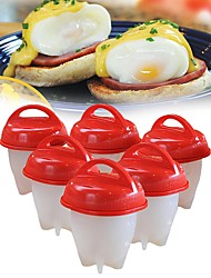 cheap -Kitchen Tools Silicone Eco-friendly / Creative Kitchen Gadget / Birthday Egg Tools Egg / Cheese / For Candy 6pcs