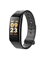 billiga -C1S Smart Klocka Android iOS Bluetooth APP Control Brända Kalorier Bluetooth Touch Sensor Stegräknare Puls Tracker Stegräknare Samtalspåminnelse Aktivitetsmonitor Sleeptracker / Alarmklocka / 150-200