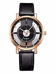 cheap -Women's Sport Watch Chinese Chronograph / Casual Watch PU Band Minimalist / Fashion Black / White / Brown