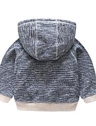 abordables -bébé Chemisier Garçon Quotidien Couleur Pleine Coton Polyester Printemps Manches Longues Mignon Marine