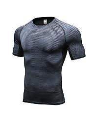 preiswerte -Herrn Laufshirt Kurzarm Atmungsaktivität T-shirt für Übung & Fitness Basketball Polyester Weiß Schwarz Blau Rot/Weiß Grau S M L XL XXL