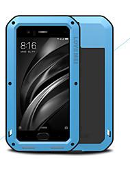 baratos -Capinha Para Xiaomi Mi 6 Água / Dirt / à prova de choque Capa Proteção Completa Côr Sólida Rígida Metal para Xiaomi Mi 6