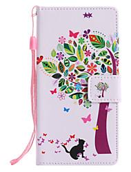 abordables -Coque Pour Sony Xperia XZ1 Compact Xperia XZ1 Porte Carte Portefeuille Avec Support Clapet Motif Coque Intégrale Chat Arbre Dur faux cuir