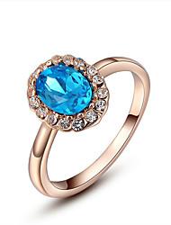 preiswerte -Damen vergoldet Bandring - Elegant Gold Ring Für Party / Geburtstag / Alltag