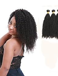 cheap -Peruvian Kinky Curly Human Hair Weaves 3pcs 0.3