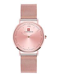 Недорогие -Муж. Кварцевый Модные часы Повседневные часы Японский Крупный циферблат Повседневные часы Нержавеющая сталь Группа Роскошь Elegant