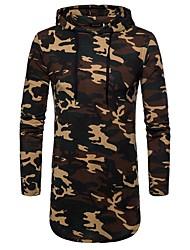 Недорогие -мужской ежедневный спорт простой военный цветной блок с капюшоном с капюшоном длинный, длинный рукав весна лето