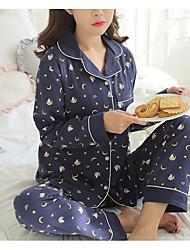 abordables -Mujer Escote en V Profunda Traje Pijamas Galaxia