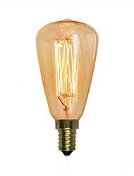 abordables -1pc 40W E14 ST48 2300 K Bombilla incandescente Vintage Edison AC 220V AC 220-240V V
