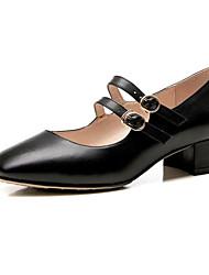 preiswerte -Damen Schuhe Leder Nappaleder Frühling Herbst Pumps Komfort High Heels Blockabsatz für Normal Gold Schwarz Mandelfarben