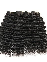 baratos -4 pacotes Cabelo Brasileiro Onda Profunda Cabelo Humano Cabelo Humano Ondulado / Cabelo Bundle / Extensões de Cabelo Natural 8-28 polegada Tramas de cabelo humano Fabrico à Máquina extensão / Melhor