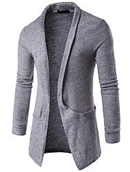 cheap -Men's Street chic Long Sleeve Long Cardigan - Solid Colored
