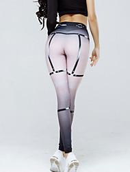 preiswerte -Damen Alltag Ausgehen Sportlich Legging - Geometrisch Hohe Taillenlinie