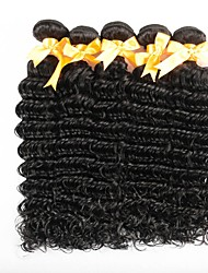 cheap -Peruvian Hair Deep Wave Curly Human Hair Weaves 6-Pack Silky 100% Virgin Comfortable Hot Sale New Arrival Natural Color Hair Weaves Weave