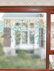 Недорогие -Оконная пленка и наклейки Украшение Современный Цветочный принт ПВХ Стикер на окна Матовая