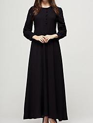 Недорогие -Жен. Тонкие Оболочка С летящей юбкой Платье - Однотонный Макси