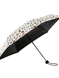 Недорогие -1pcs ПК Ткань Жен. Все Солнечный и дождливой Ветроустойчивый новый Складные зонты