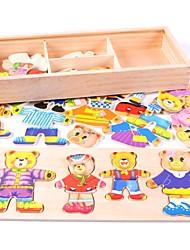 abordables -Puzzles en bois Ours Animal Adorable Motif géométrique Bois / Bambou 1pcs Dessin Animé Enfant Adolescent Tous Cadeau