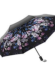 Недорогие -Ткань Жен. / Все Солнечный и дождливой / Ветроустойчивый Складные зонты