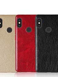 cheap -Case For Xiaomi Redmi Note 5 Pro Redmi 5 Plus Embossed Back Cover Solid Colored Hard PU Leather for Xiaomi Redmi Note 5 Pro Xiaomi Redmi