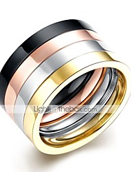 cheap -Men's Ring Set - Stainless Steel Rock 9 / 10 Rainbow For Daily / Work