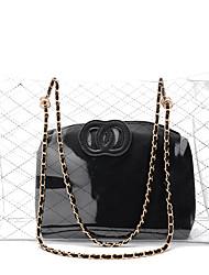 preiswerte -Damen Taschen PVC Umhängetasche Reißverschluss für Normal Ganzjährig Schwarz Rote Rosa Braun