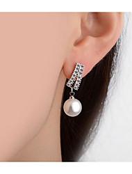 abordables -Femme Boucles d'oreille goutte - simple / Elégant / Mode Argent Irrégulier Des boucles d'oreilles Pour Mariage / Fête / Soirée