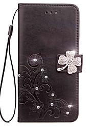 Недорогие -Кейс для Назначение Sony Xperia XZ2 Xperia L2 Стразы Флип Рельефный Чехол Мандала Бабочка Твердый Кожа PU для Sony Xperia Z2 Sony Xperia
