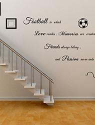 Недорогие -Декоративные наклейки на стены - Стикеры стикеров Words & Quotes Персонажи Футбол Гостиная Детская