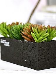 Недорогие -Искусственные Цветы 1pcs Филиал Пластик Суккулентные растения Букеты на стол