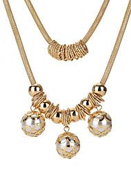 preiswerte -Damen Layered Ketten - Künstliche Perle Süß Gold 56 cm Modische Halsketten Schmuck Für Party, Ausgehen