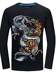 preiswerte -Herrn Tier - Aktiv Grundlegend T-shirt Druck