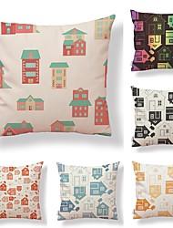 cheap -6 pcs Textile Cotton/Linen Pillow Case, Floral Art Deco Special Design Traditional/Vintage High Quality