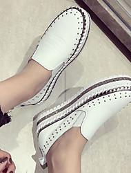 abordables -Femme Chaussures Polyuréthane Printemps Confort Mocassins et Chaussons+D6148 Creepers Bout rond pour Blanc