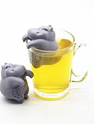Недорогие -Силикон Милый стиль Бегемот 1шт Кофе и чай / Ситечко для чая